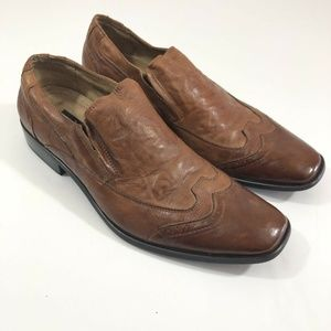 Stacy Adams Mens Shoes Sz 8 Slip On Loafer Brogue